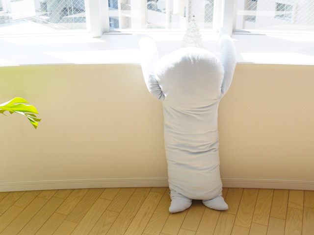 フモフモさん抱き枕 あいす ブルー・LL ★綿入れ保証付★ アザラシ あざらし おもしろ ユニーク 抱き枕 抱枕 抱きまくら ゆるキャラ 特大サイズ ぬいぐるみ 彼氏 彼女 女友達 プレゼント クリスマス プレゼント xmas プレゼント