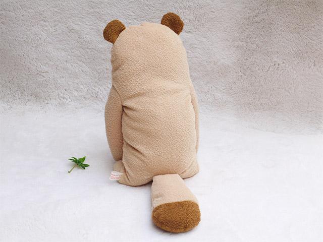 フモフモさん ぽぽた  ブラウン L   かわいい狸(たぬき)のぬいぐるみ  シナダのキャラクター