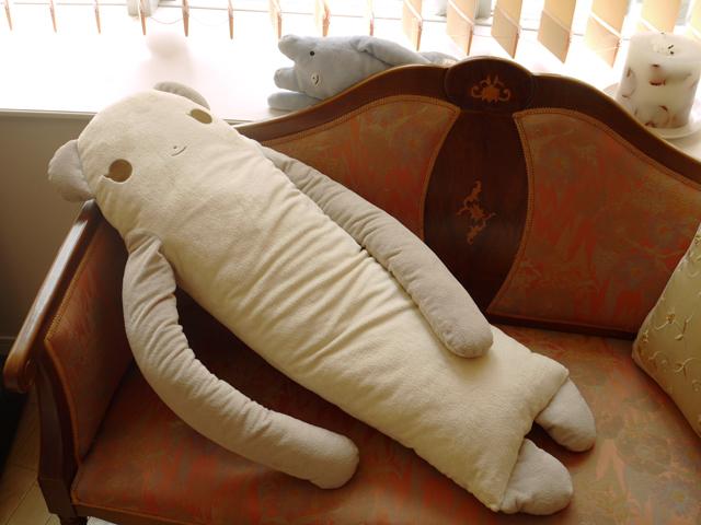 フ★綿入れ保証付★  モフモさん ぱんな(パンダ) セピア LLサイズ抱き枕 ぬいぐるみ 特大 可愛い癒しのだきまくら シナダ製 プレゼントにも おもしろ グッズ 抱きまくら 抱枕 抱き枕 ★ 誕生日 ギフト 彼女 女性 女の子 女友達