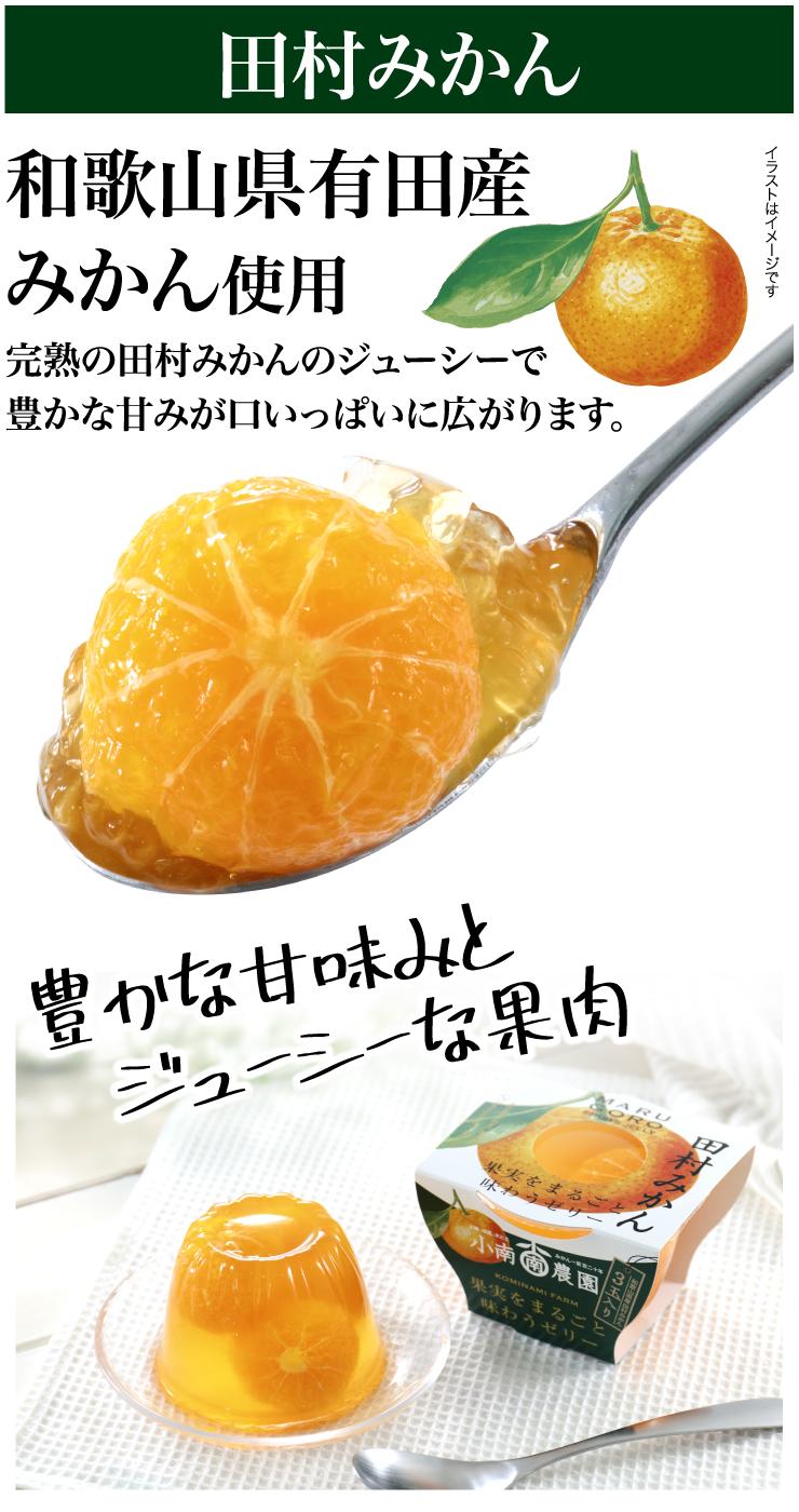 田村みかんフルーツまるごとゼリー250g