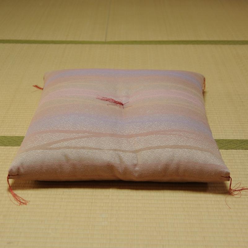 座布団 錦匠絹紬(きんしょうきぬつむぎ) 桃色 5帖セット 八端判59x63cm