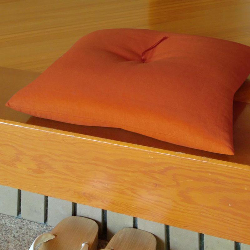 座布団 本麻(ほんあさ) 橙(だいだい)