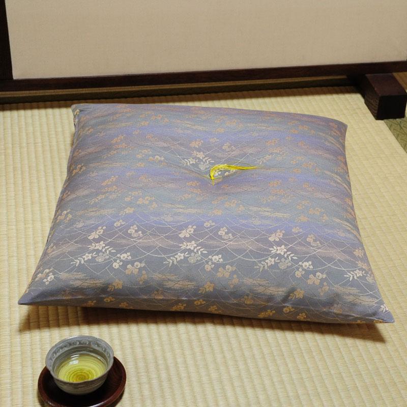 座布団 先染め織物『なごみ』 薄藍色(うすあいいろ)