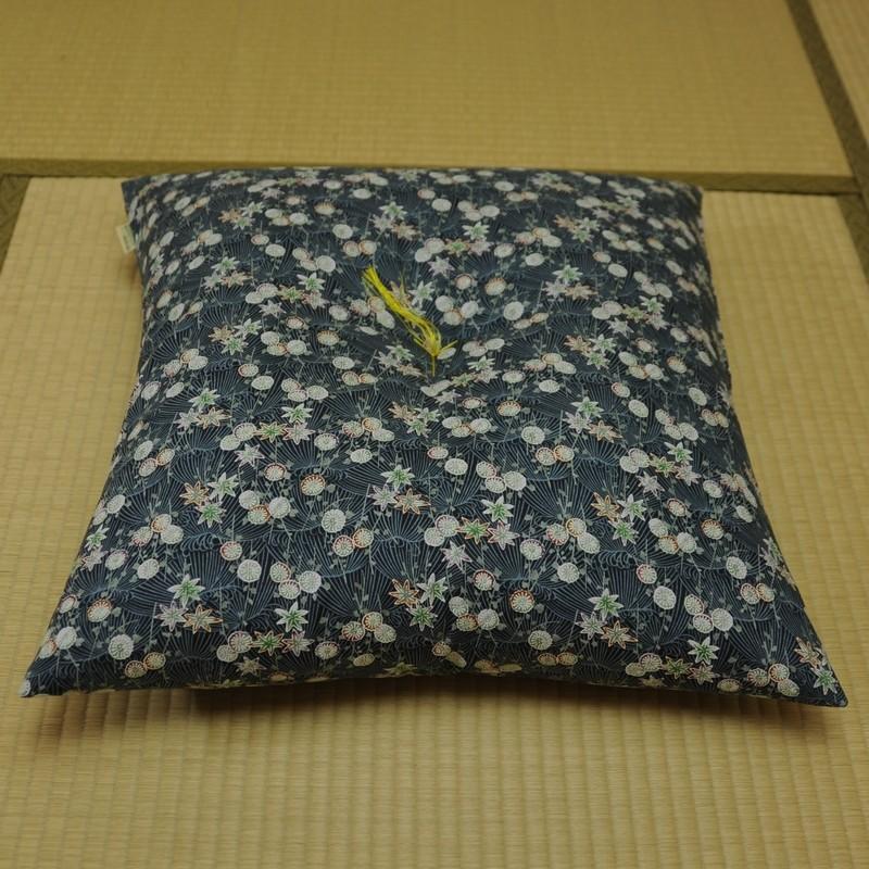 座布団 菊もみじ(きくもみじ) 藍(あい)