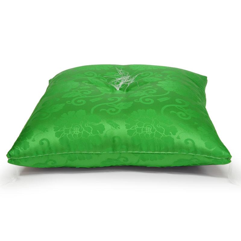 お祝い座布団 正絹(絹100%) 緑色