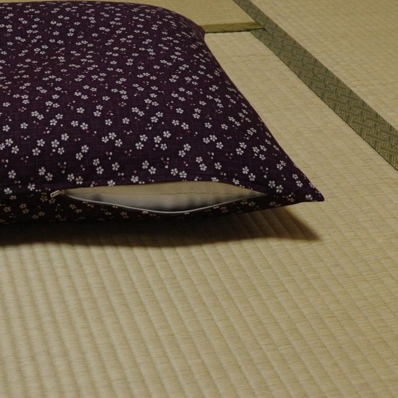 座布団カバー 桜さくら 紫色(むらさきいろ)