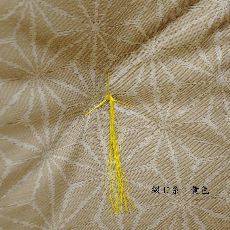 夏座布団 先染め織物『夏 麻の葉』 薄茶色(うすちゃいろ)