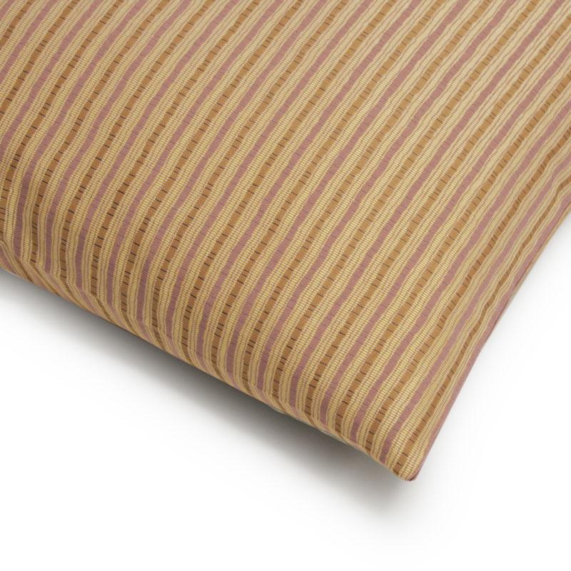 座布団カバー 先染め織物『縞 模様』 桃色(ももいろ)
