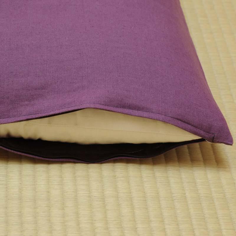 座布団カバー 本麻 京紫(きょうむらさき)