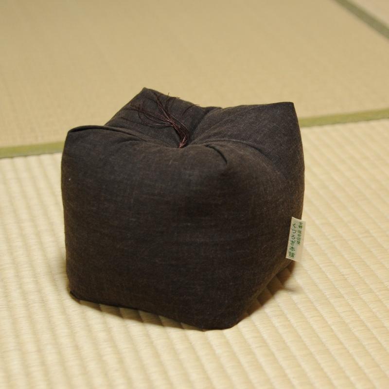 KAKU座 角(かく) むら染古都もめん 栗茶色(くりちゃいろ)