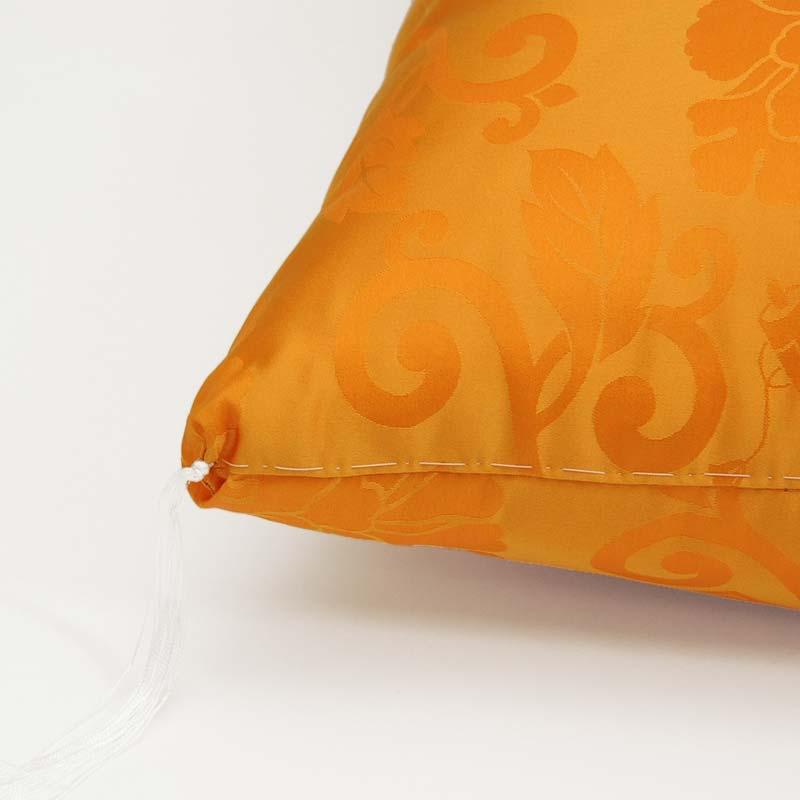 米寿・お祝い座布団 正絹(絹100%) 黄色