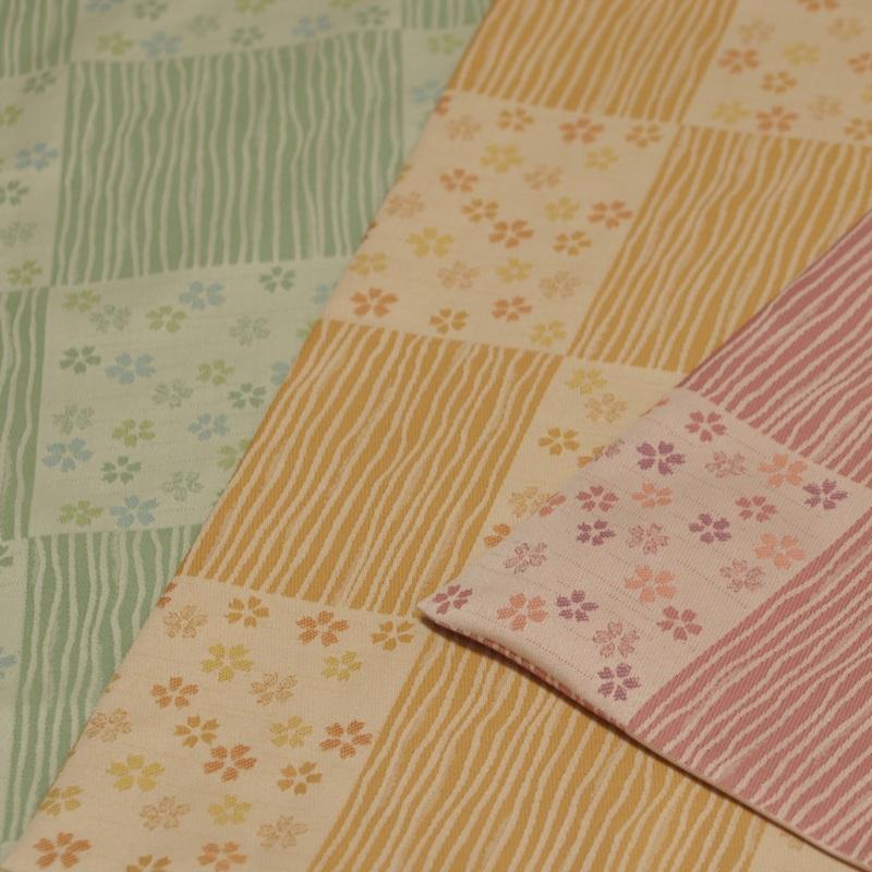 丸座布団 先染め織物 『桜ごのみ』