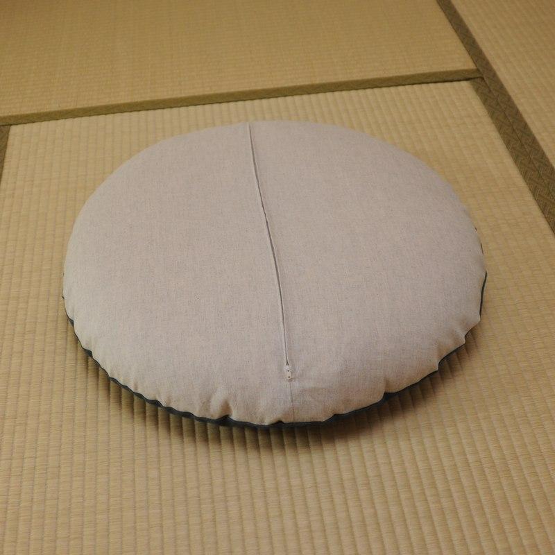 丸座布団カバー 本麻(ほんあさ) 麻100%
