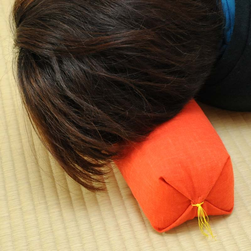 KAKU座 俵(たわら) もめん縞 桂川 栗茶色(くりちゃいろ)