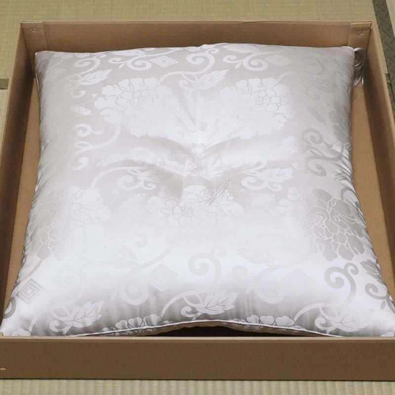 白寿・お祝い座布団 正絹(絹100%) 白色