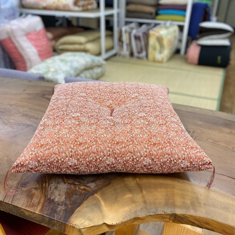 座布団 先染め織物『花』 59x63cm 八端判