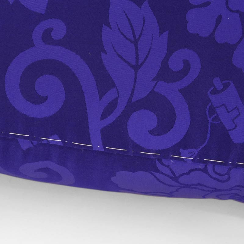 喜寿・お祝い座布団 正絹(絹100%) 紫色