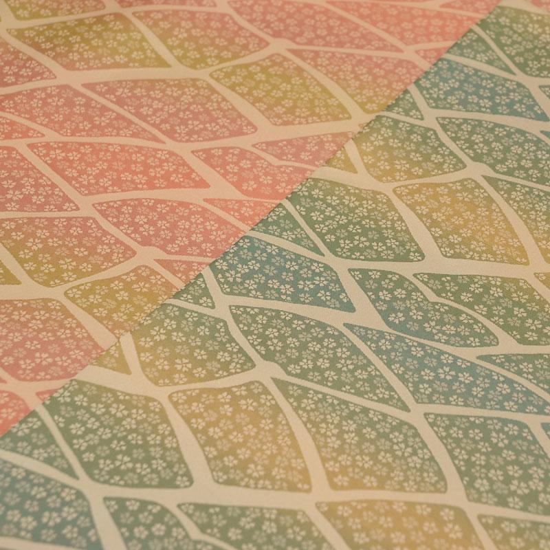 座布団 先染め織物『嵐山(らんざん)しぐれ』 緑色(みどりいろ)