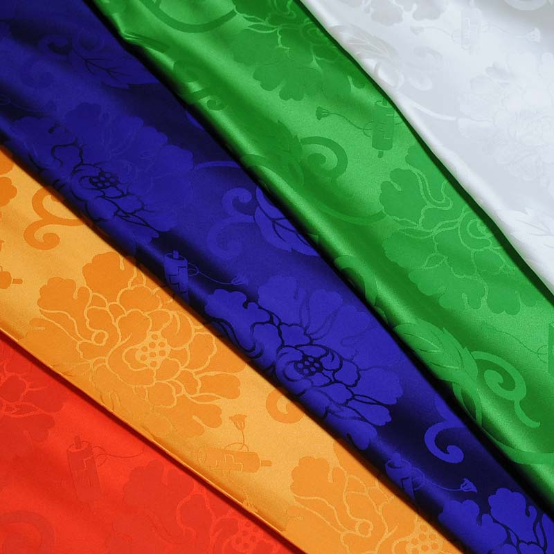 置物用ミニ座布団 正絹(絹100%) 緑