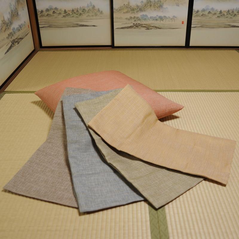 座布団カバー 先染め織物『夕霧(ゆうぎり)』 橙(だいだい)