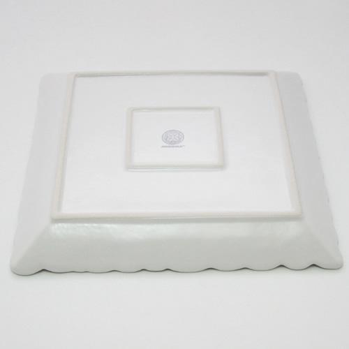 ジェンガラ陶器 - フラワー・フレーム プレーンスクエアフランジバニプレート ジェンガラケラミック