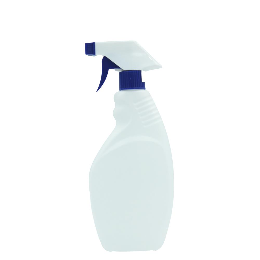 [アルコール/次亜塩素酸水 対応] 不透明白色 高密度ポリエチレン 500ml トリガーボトル ブルー