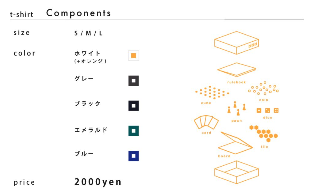 Tシャツ「Components」