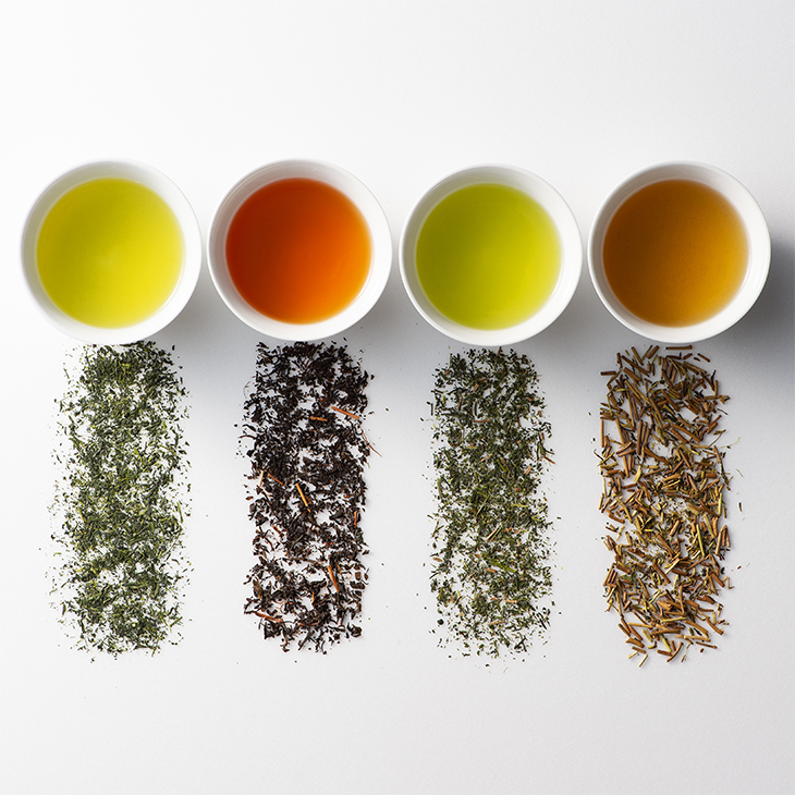 【送料無料】八女茶 4種セット 煎茶 玉露 玉露ほうじ茶 紅茶 お茶処福岡県八女産
