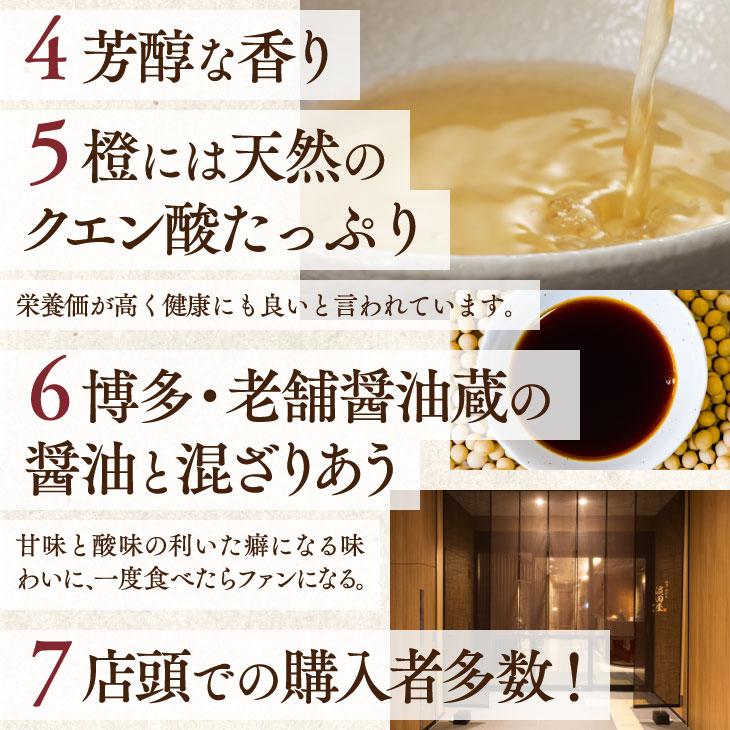 【送料無料】博多水たき濱田屋 橙酢しょうゆ3本セット
