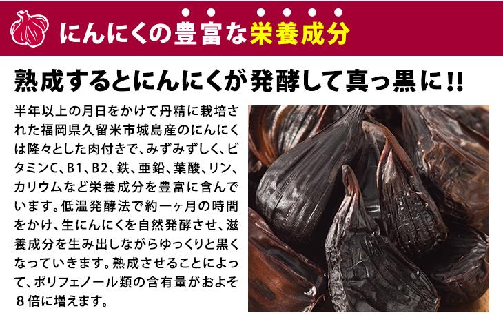 送料無料】 熟成黒にんにく お得な600g(300g×2袋) にんにく 醗酵 福岡 九州 国産