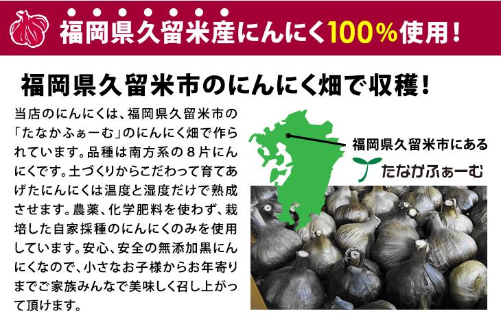 【送料無料】 熟成黒にんにく お得な800g(400g×2袋) にんにく 醗酵 福岡 九州 国産