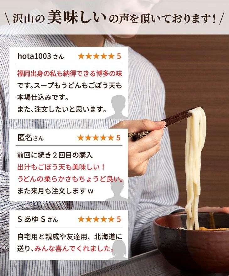 博多 ごぼう天うどん 2人前 (あごだしスープ・うどん麺・ごぼう天付き)【送料無料】