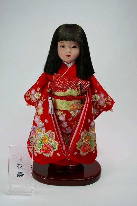 8号 金彩京友禅 市松人形