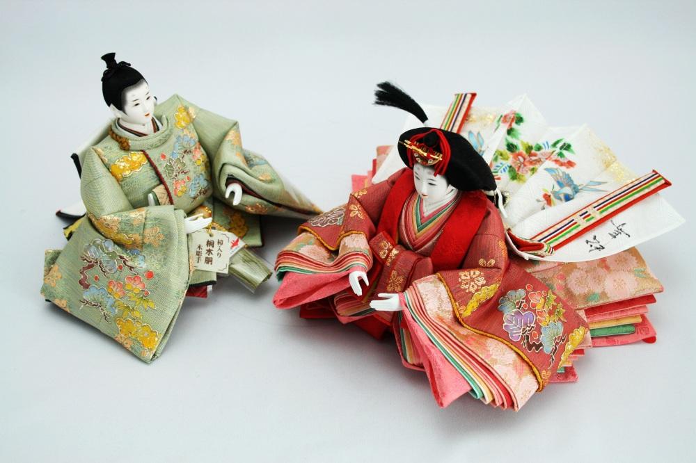 十二番<br>金彩螺鈿親王オリジナル桐収納飾り
