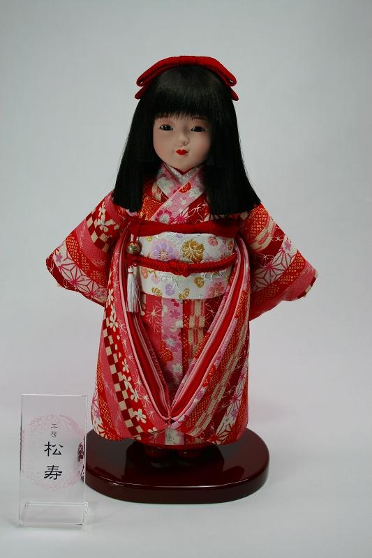 8号 特選友禅 市松人形(朱赤)