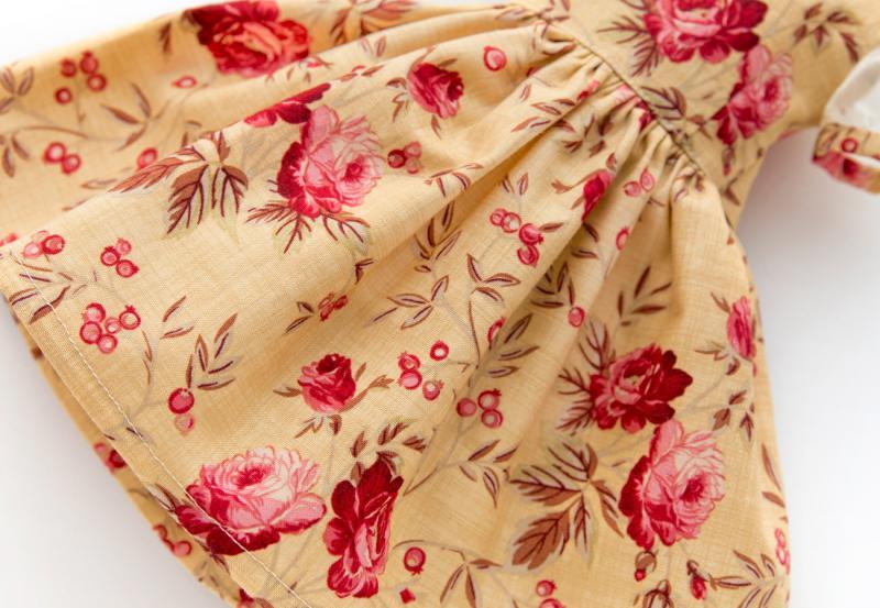 花柄パフスリーブワンピースセット