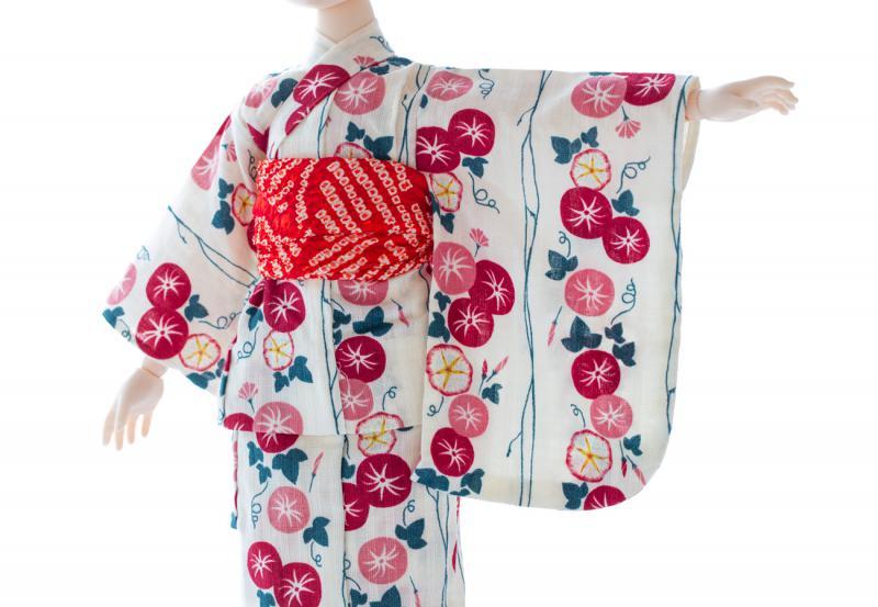 浴衣セット(朝顔・白)