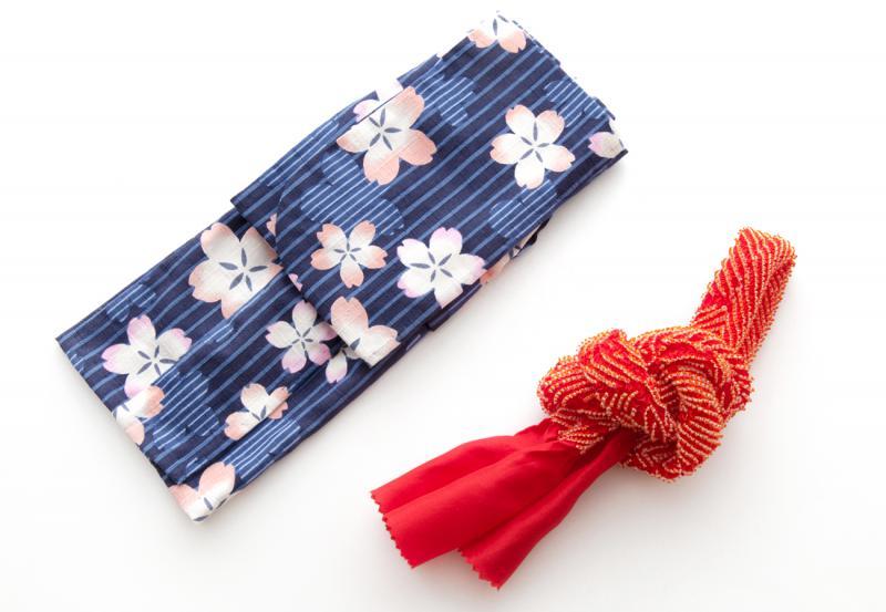 浴衣セット 桜 (全2色)