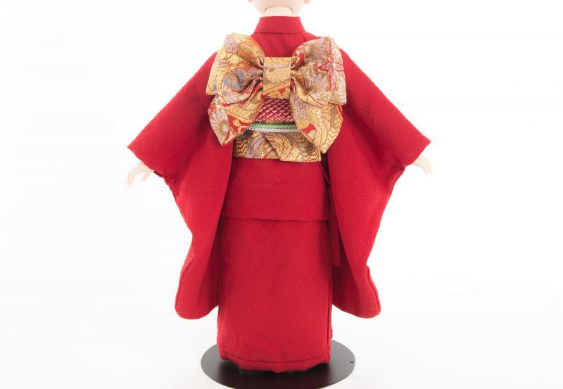 正絹着物9点セット(枝垂桜に鞠・赤)