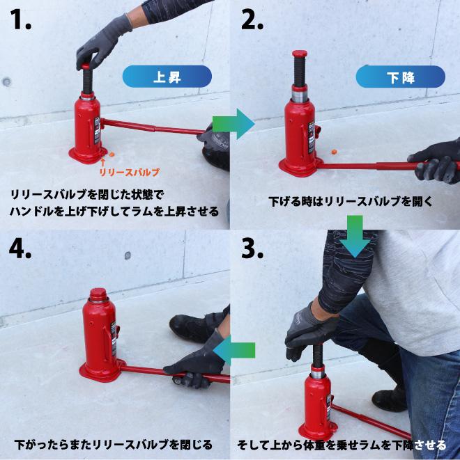 油圧ジャッキ12トン トラックジャッキ ボトルジャッキ 227-457mm 建築ジャッキ ダルマジャッキ KIKAIYA