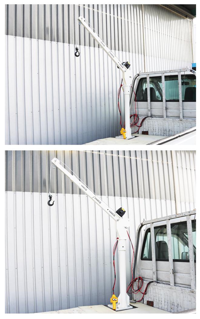 トラッククレーン 電動昇降ウインチ ミニクレーン コンパクトクレーン ピックアップクレーン「すご楽」(個人様は営業所止め)KIKAIYA