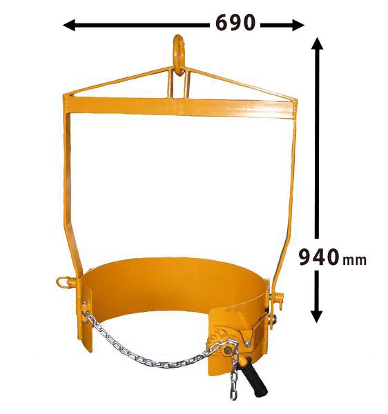 ドラム缶反転吊り具 ドラム反転ハンガー (個人様は営業所止め) KIKAIYA