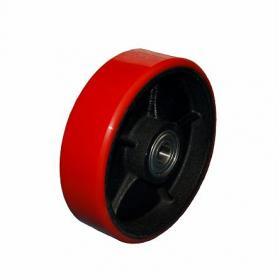 ステアリングローラー 車輪直径 180mm 車輪幅 50mm ハンドパレット ブレーキ付 (PT-25B) タイプ KIKAIYA
