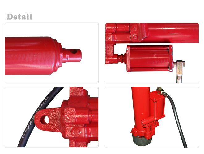 エンジンクレーン2トン用 油圧シリンダー 油圧ジャッキ(エアーポンプ付)KIKAIYA