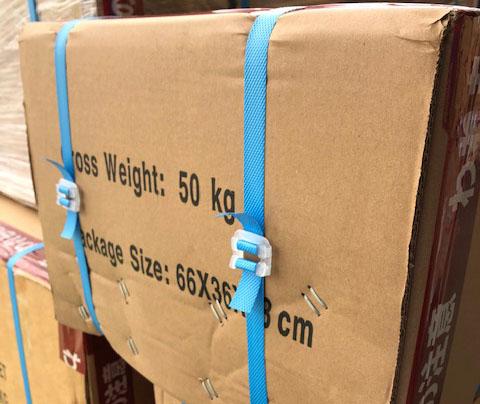 ストッパー PPバンド用 1袋(1000個入)梱包用 手締め PPバンド手締め用 簡易梱包 KIKAIYA