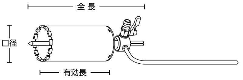 ユニカ 湿式ダイヤモンドコアドリル DCタイプ STセット