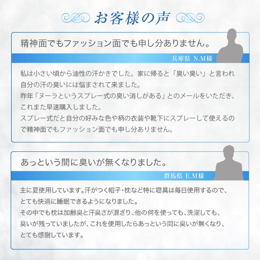 急速イオン消臭スプレーヌーラ(セット)期間限定【送料無料】