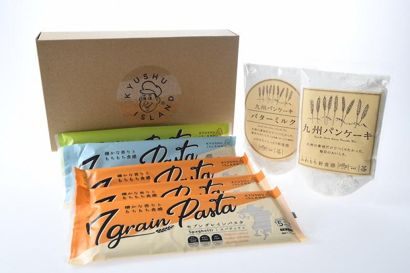 九州パンケーキ&セブングレインパスタのギフトセット