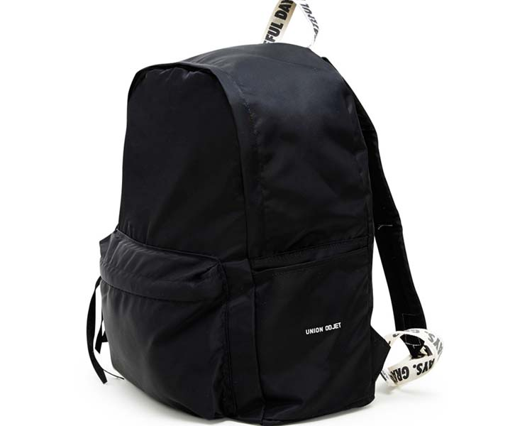 UNIONOBJET 1ポケットバックパック 黒色