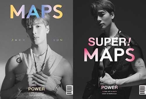 韓国雑誌 MAPS 2021年3月号  GOT7ジャクソン表紙(表紙ランダム発送)